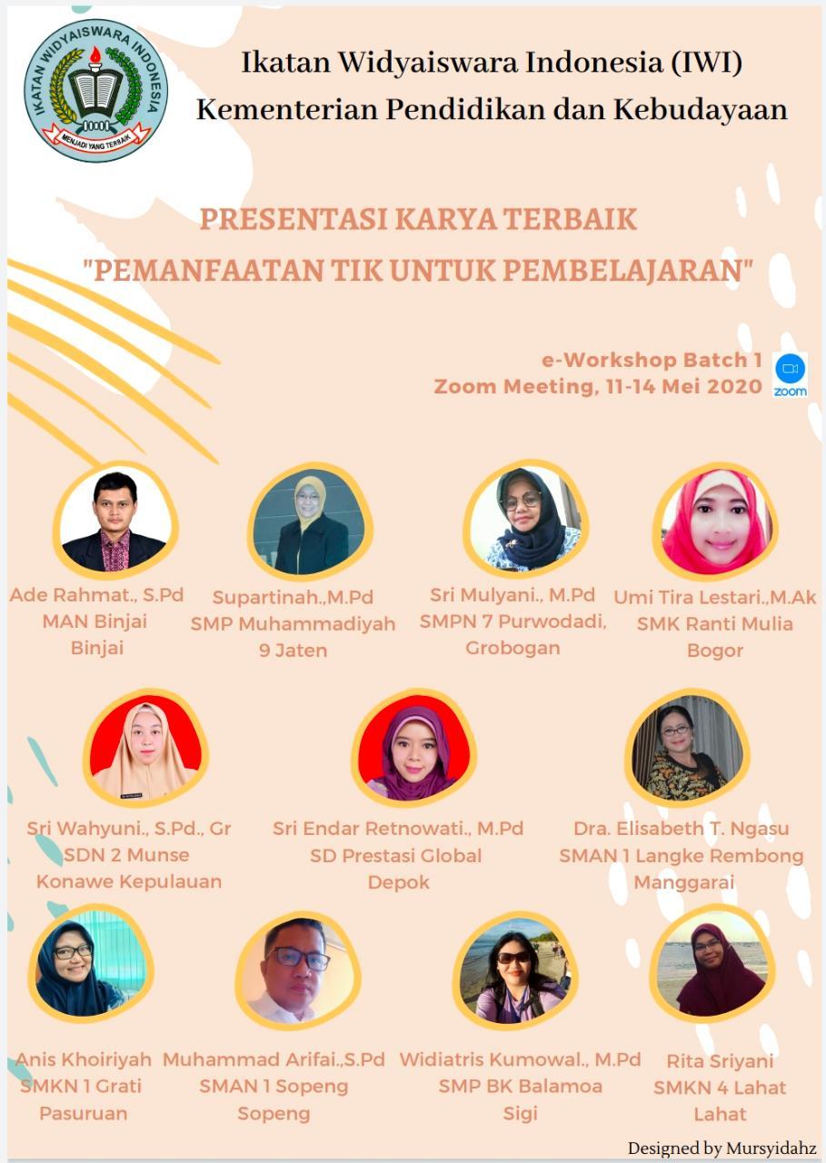 Presentasi Karya Terbaik dari Guru Prestasi Global oleh Ikatan Widyaiswara Indonesia Kementerian Pendidikan dan Kebudayaan 1