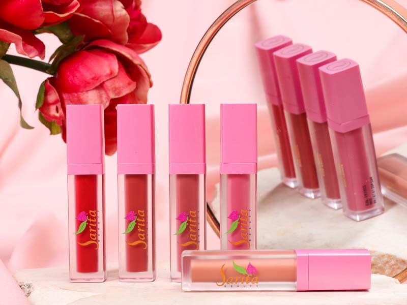 Lip Cream Sarita Beauty Matte, Tetapi Melembapkan 2