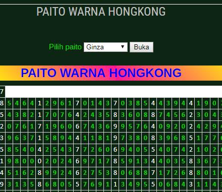 paito warna hk - duniawanita